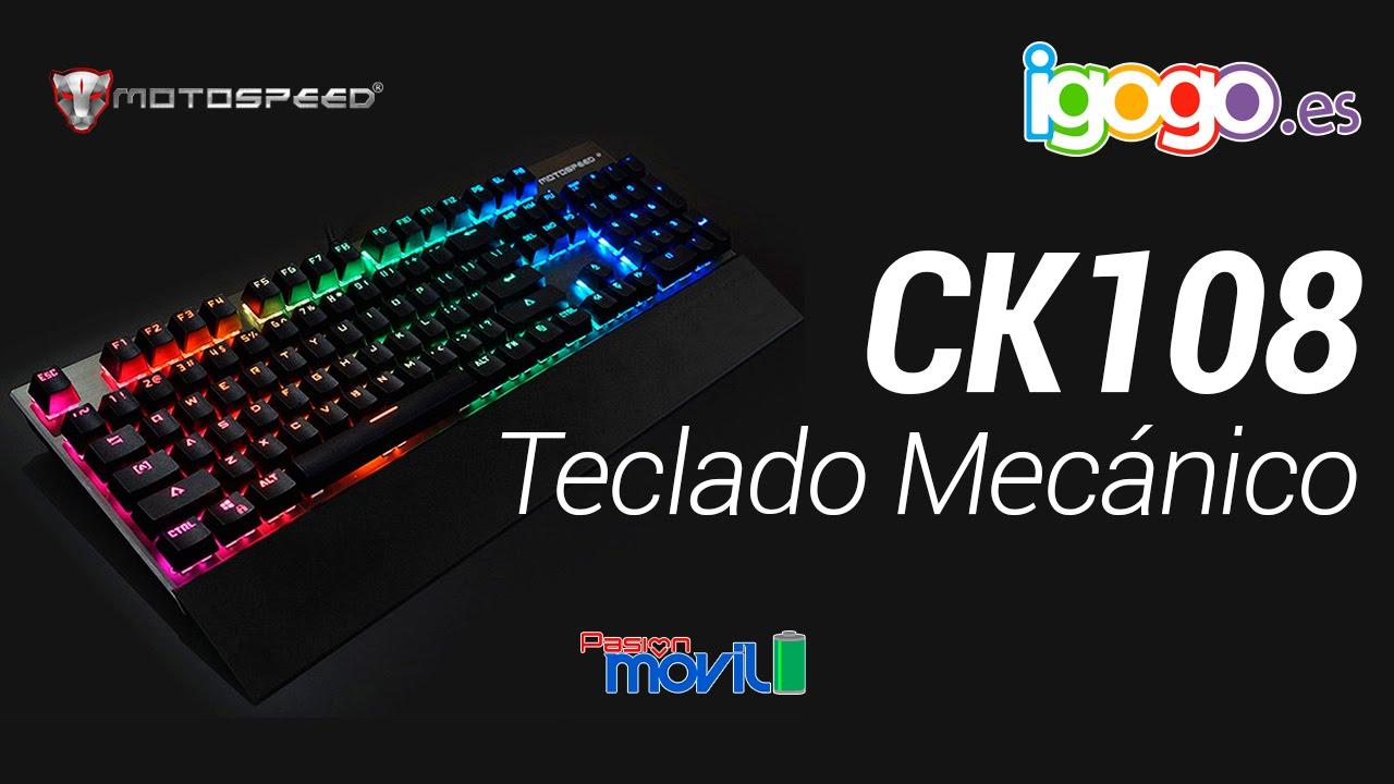 MotoSpeed CK108 podrá mejorar su experiencia en la computadora