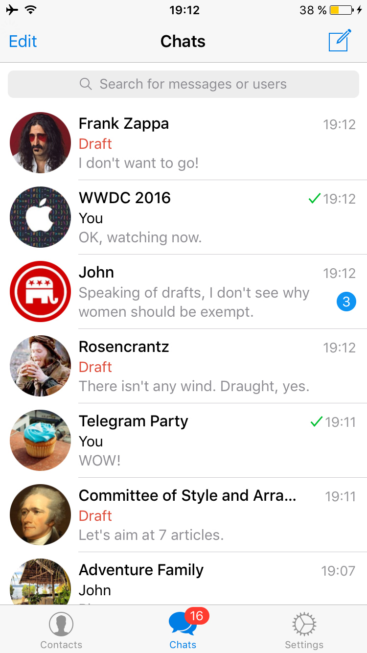 Telegram-draft