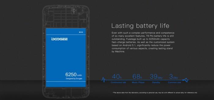 dooge t6 pro bateria