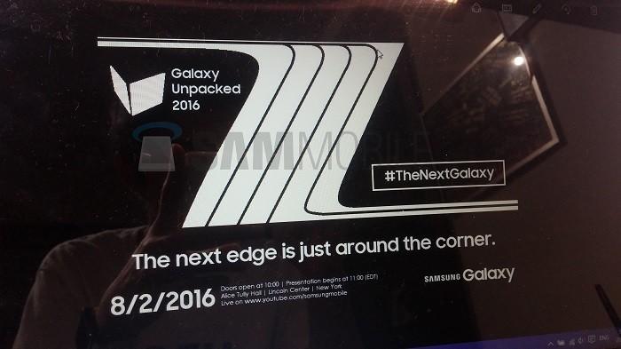 invitacion galaxy note 7 edge