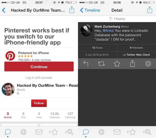 mark zuckerberg hackeado twitter linkedin pinterest_2