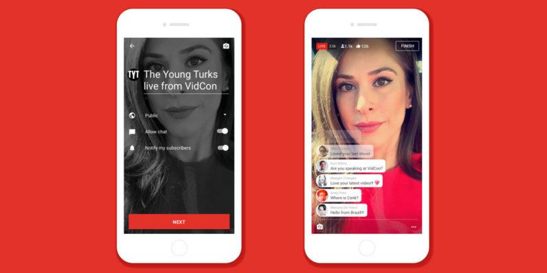 YouTube Live pronto estará disponible en iOS y Android