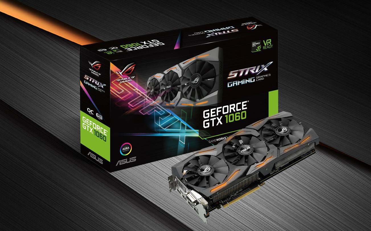 ASUS Strix GeForce GTX 1060 es opción ideal para la gama media