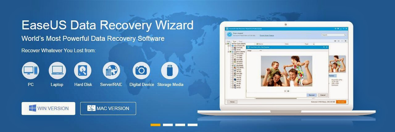 EaseUS Data Recovery Wizard 8.6 crack