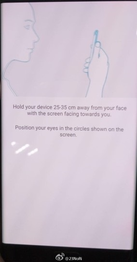 Escáner de iris Samsung Galaxy Note 7 1
