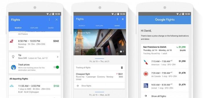 Novedades en Google Flights