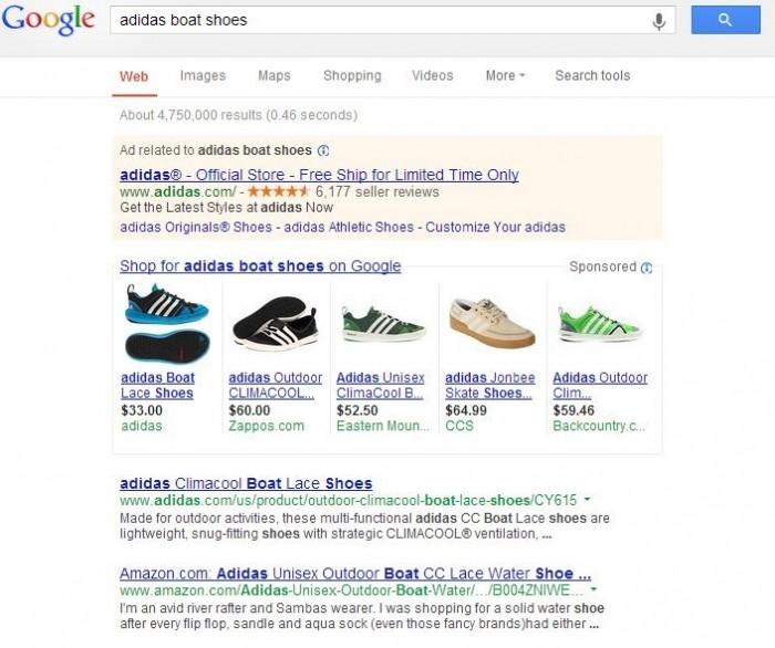 Showcase Shopping de Google