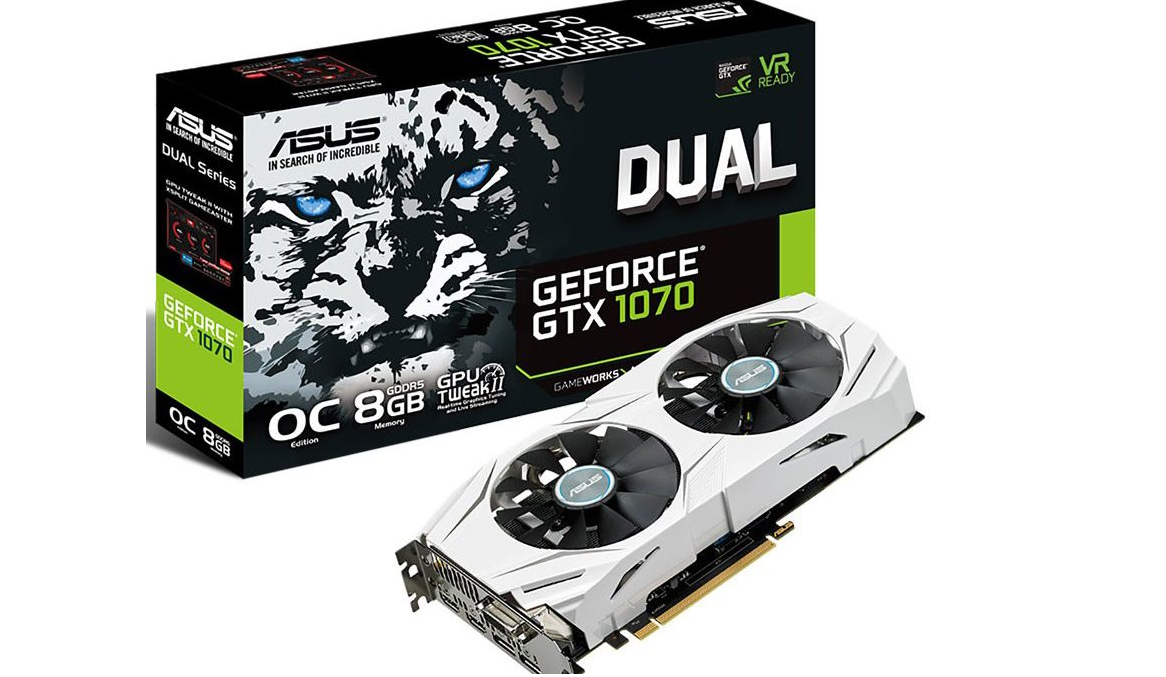 ASUS GeForce GTX 1070 DUAL ofrece una bonita estética