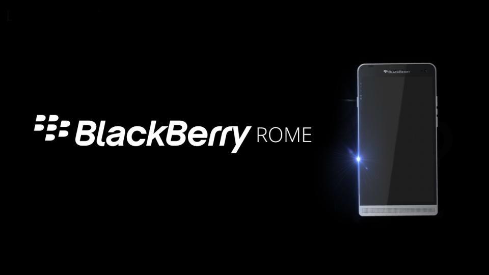 BlackBerry Rome estará un peldaño abajo del Hamburg