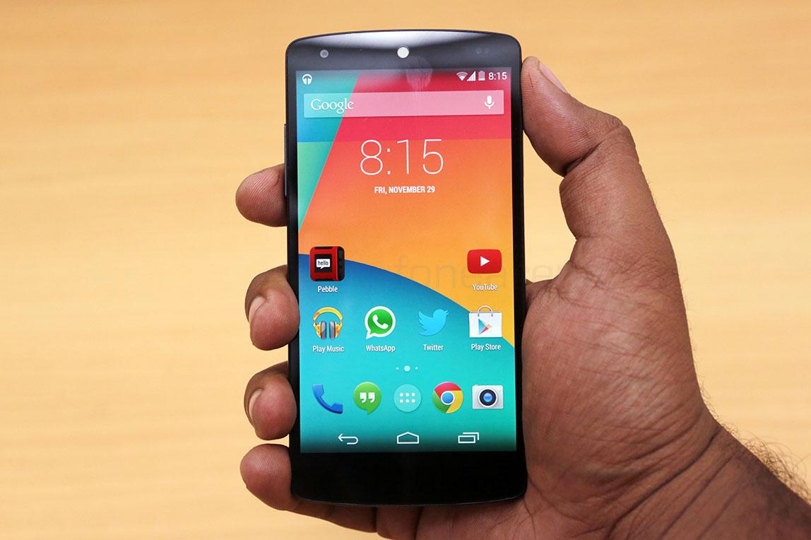 Nexus 5 presenta una falla compleja