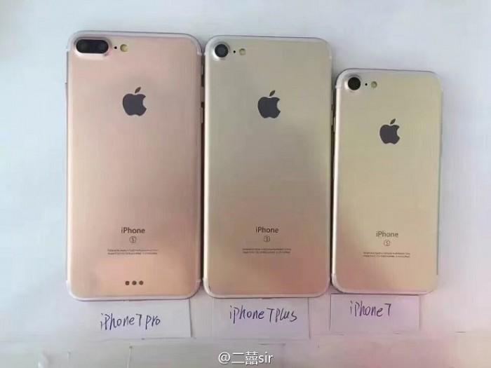 iPhone 7, iPhone 7 Plus y iPhone 7 Pro por atrás