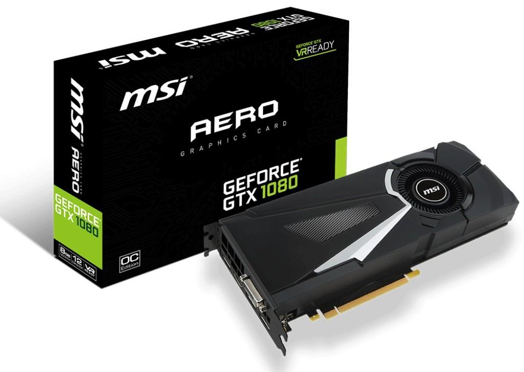 MSI GeForce GTX 1080 Aero es una excelente opción
