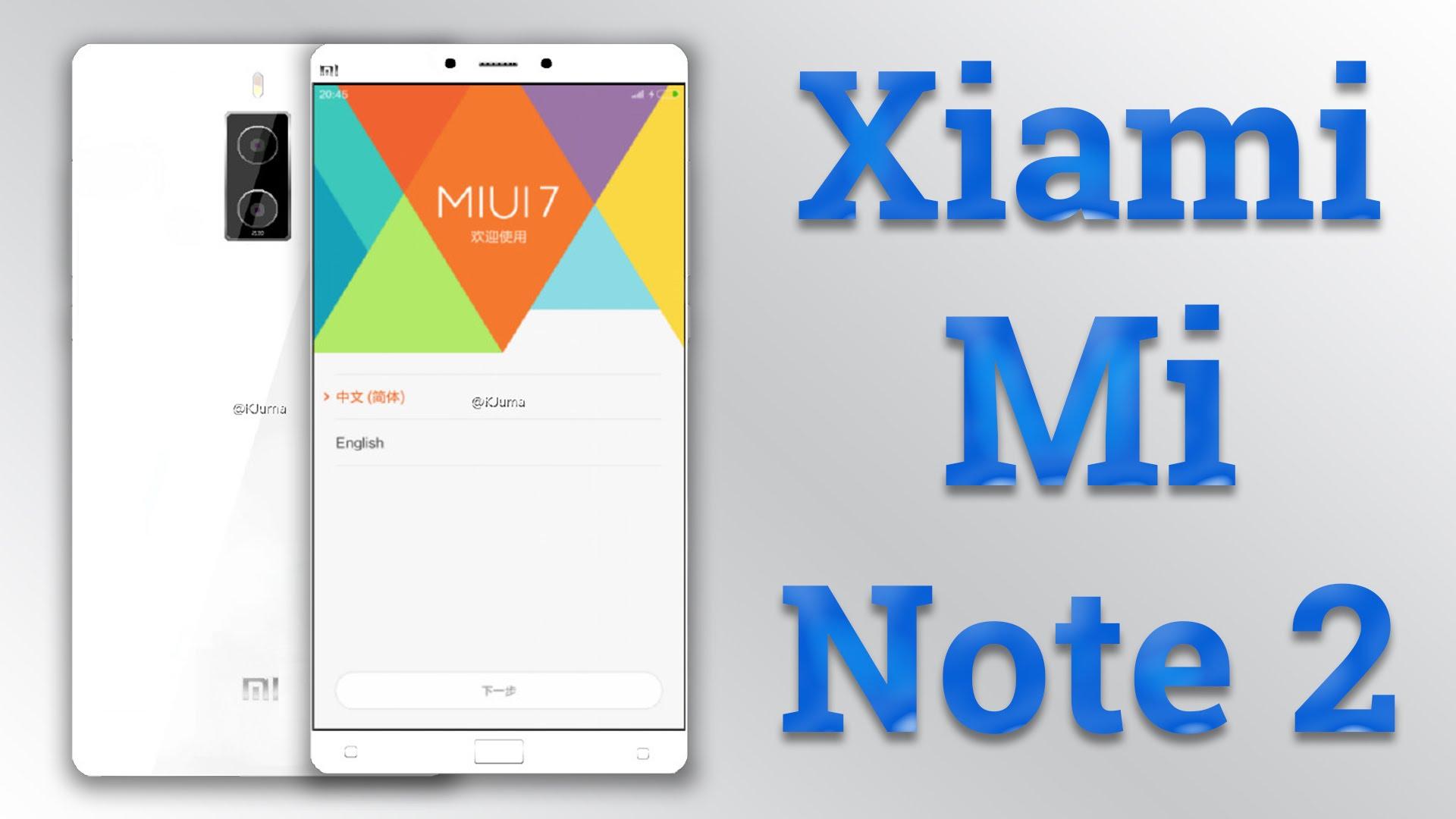 Xiaomi Mi Note 2 será el smartphone de la marca más potente del mundo