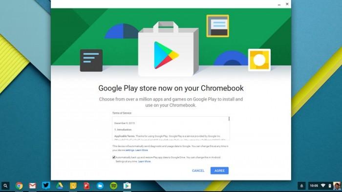 Google Play Store en Chromebook Chrome OS