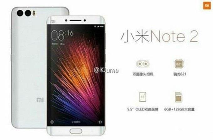 Póster Xiaomi Mi Note 2