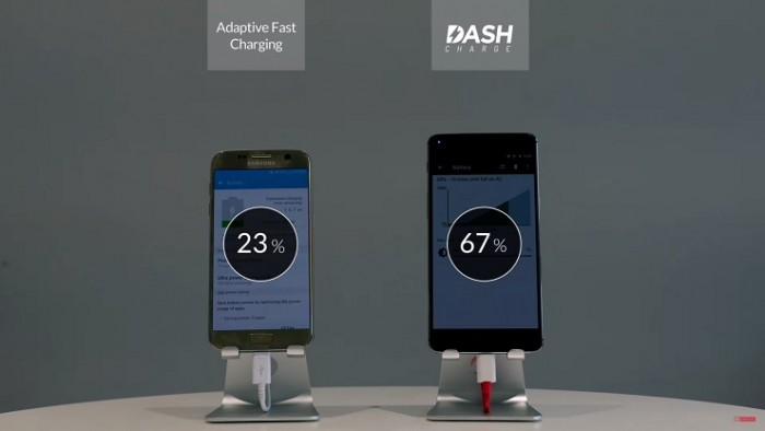 Samsung Galaxy S7 vs OnePlus 3 batería