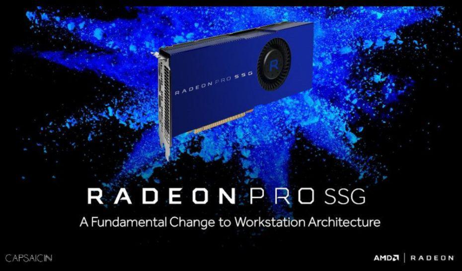 AMD Radeon Pro SSG es una opción enfocada a los estudios cinematográficos