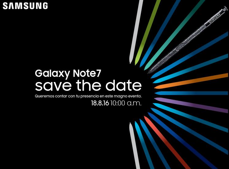 samsung galaxy note 7 lanzamiento mxico