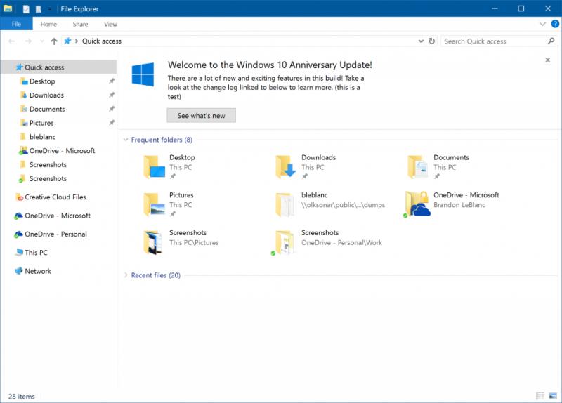 windows 10 redstone 2 build 14901 explorador de archivos notificaciones