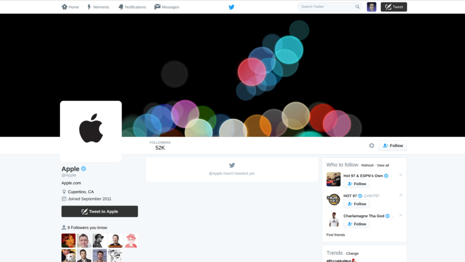 Apple-Twitter-Account
