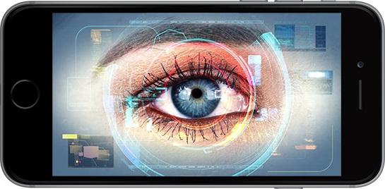 Escaner de iris en iPhone