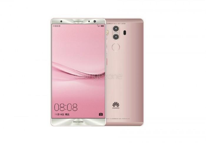 Huawei Mate 9 color oro rosado