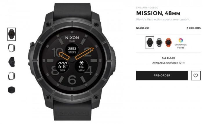 Preventa smartwatch Nixon Mission