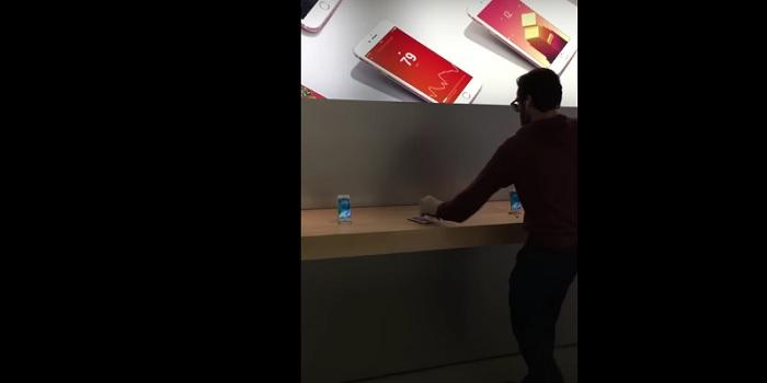 cliente apple store francia golpea iphones