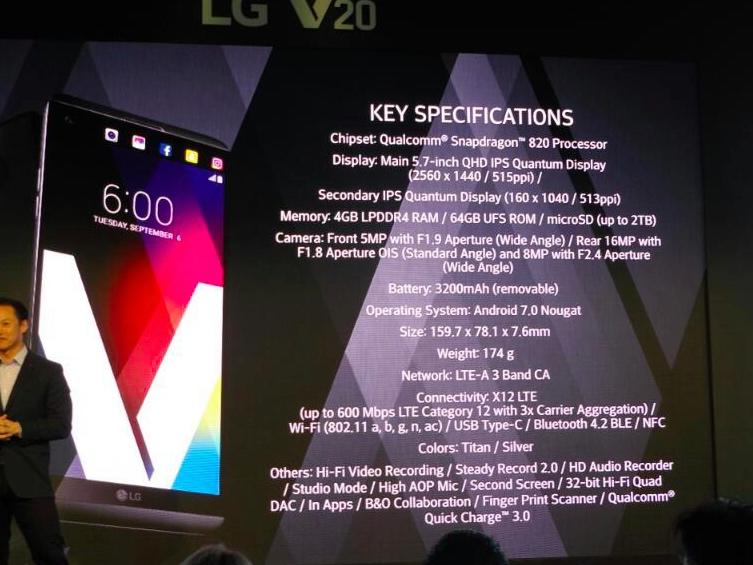 especificaciones lv v20