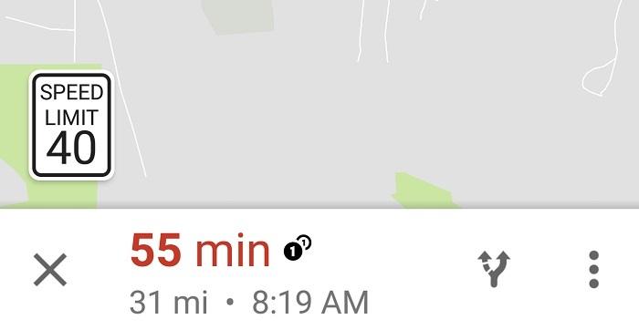 google mapas indice velocidad