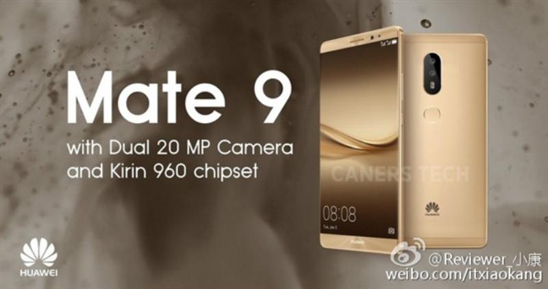 Huawei Mate 9 llegaría para finales de mes
