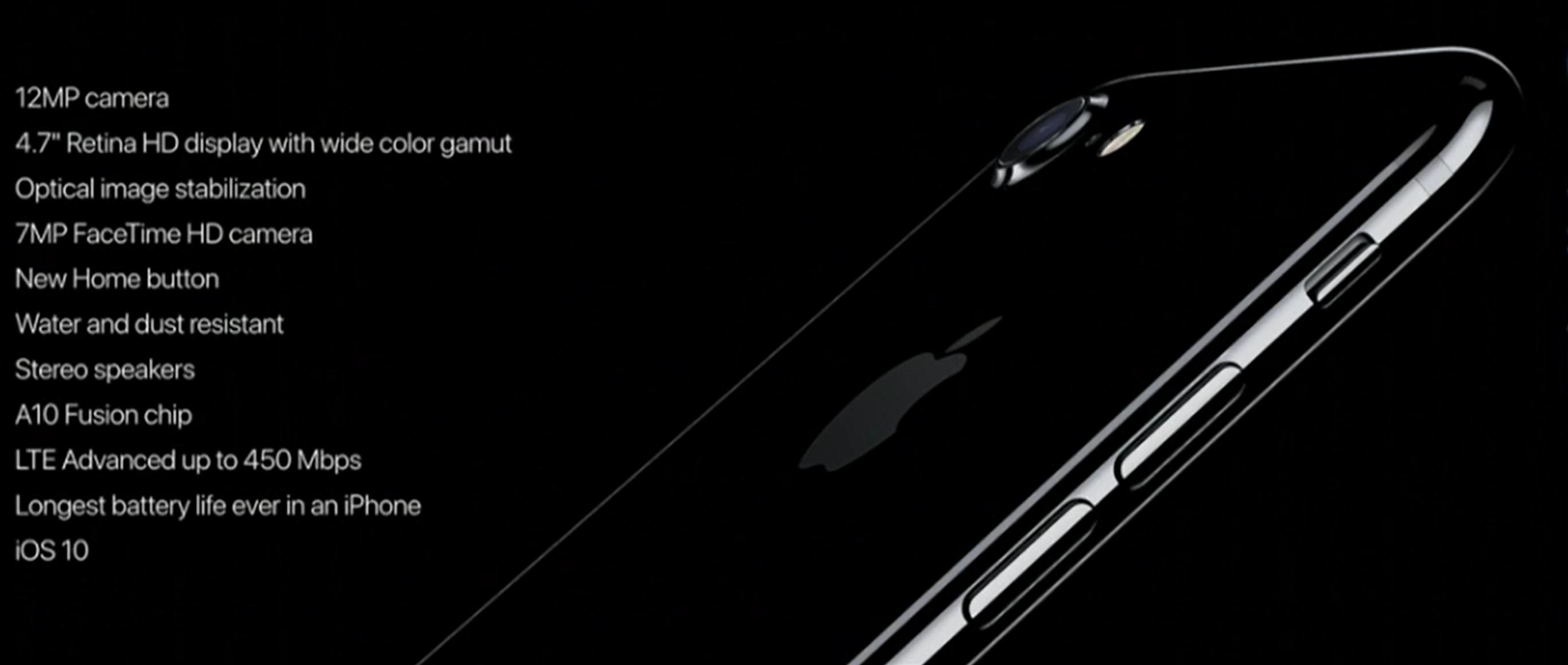 iphone 7 especificaciones