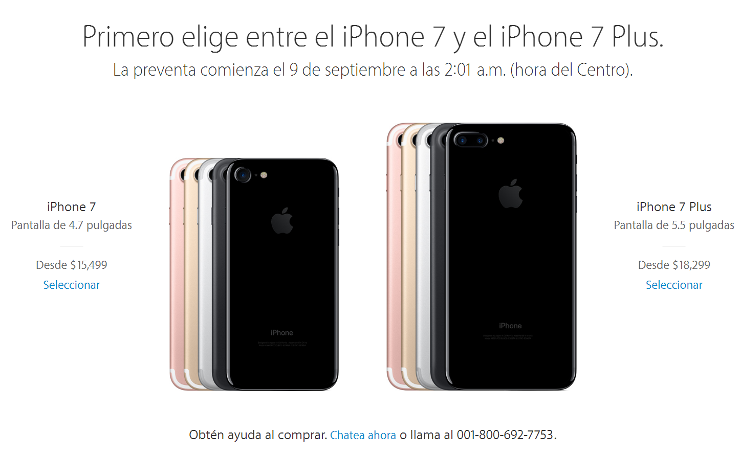 iphone 7 iphone 7 plus precios mexico