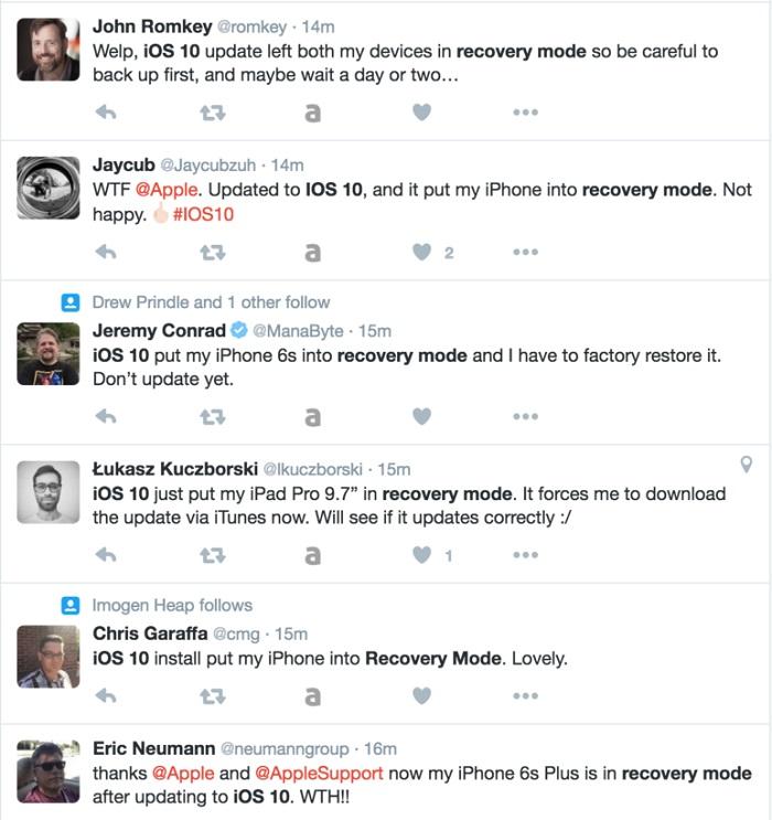 iphone os10 problemas