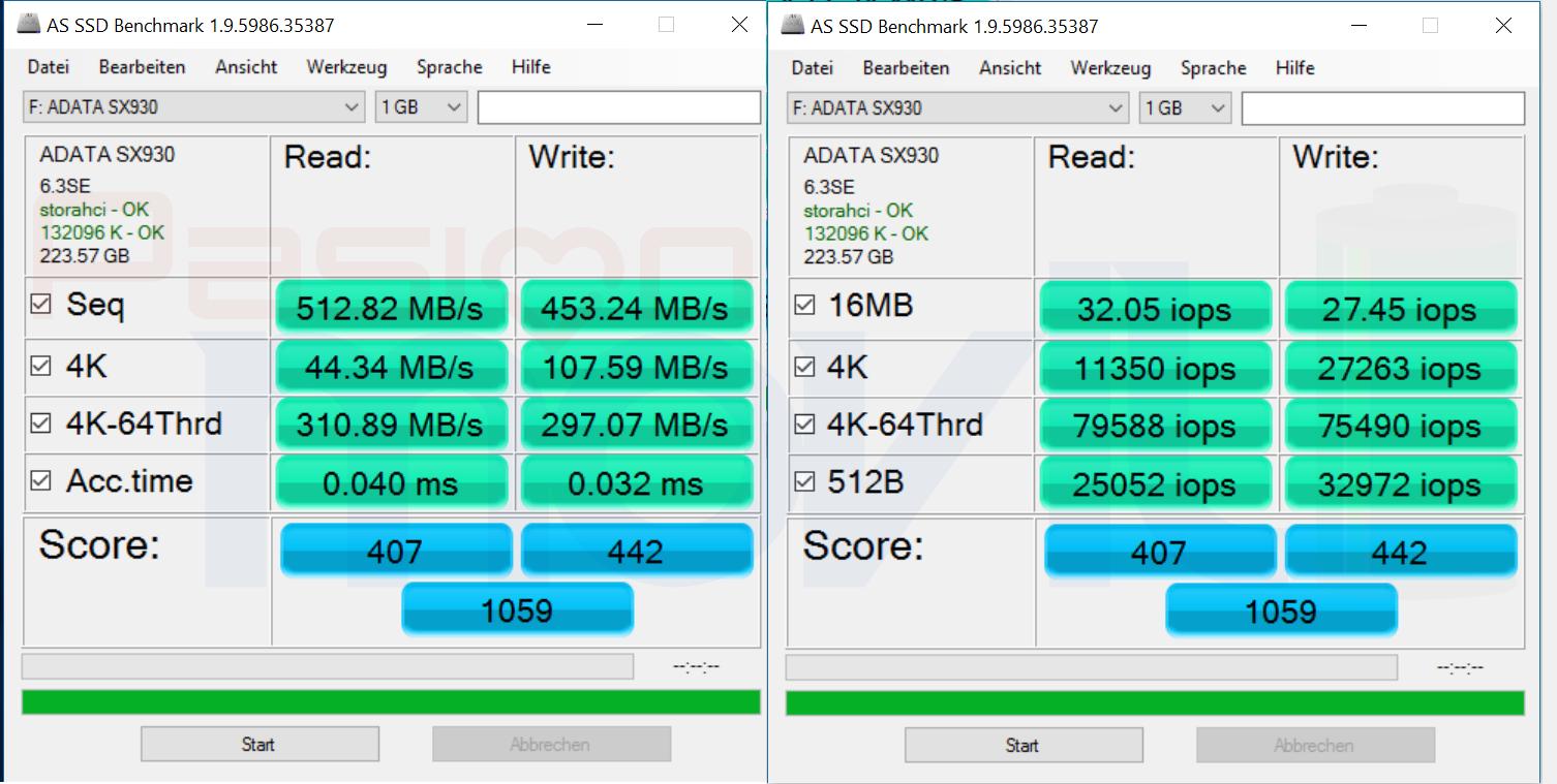 ADATA XPG SX930 AS SSDBenchmark Analisis Pasion Movil PoderPDA