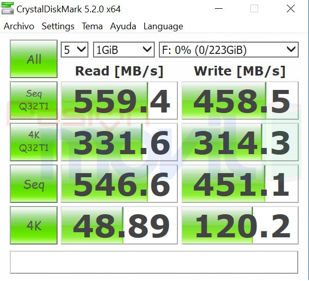 ADATA XPG SX930 CrystalDiskMark Analisis Pasion Movil PoderPDA