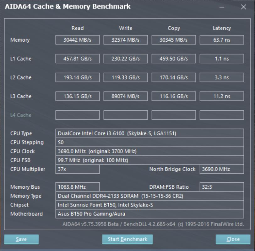 AIDA64 benchmark ADATA XPG Dazzle LED DDR4