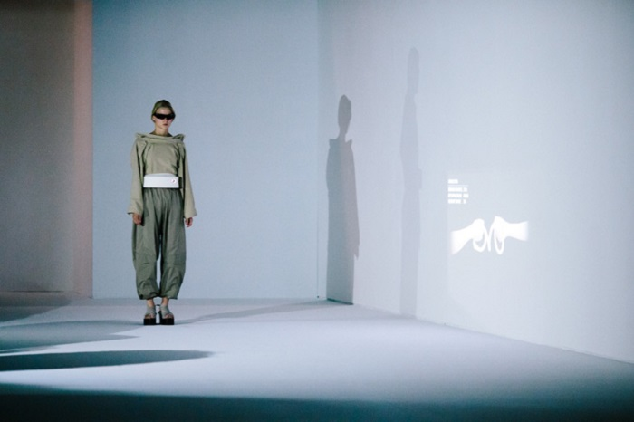 """The theme of the """"Room Tone"""" show and collection presented Sept. 30, 2016, at Parish Fashion Week centers on """"the here and now of London life,"""" consisting of a series of five studies that are simultaneous reactions and proposals on how certain attitudes or realities can be experienced or optimized. Paris Fashion Week?s Spring/Summer 2017 event runs Sept. 27-Oct. 5, 2016. (Credit: Intel Corporation)"""