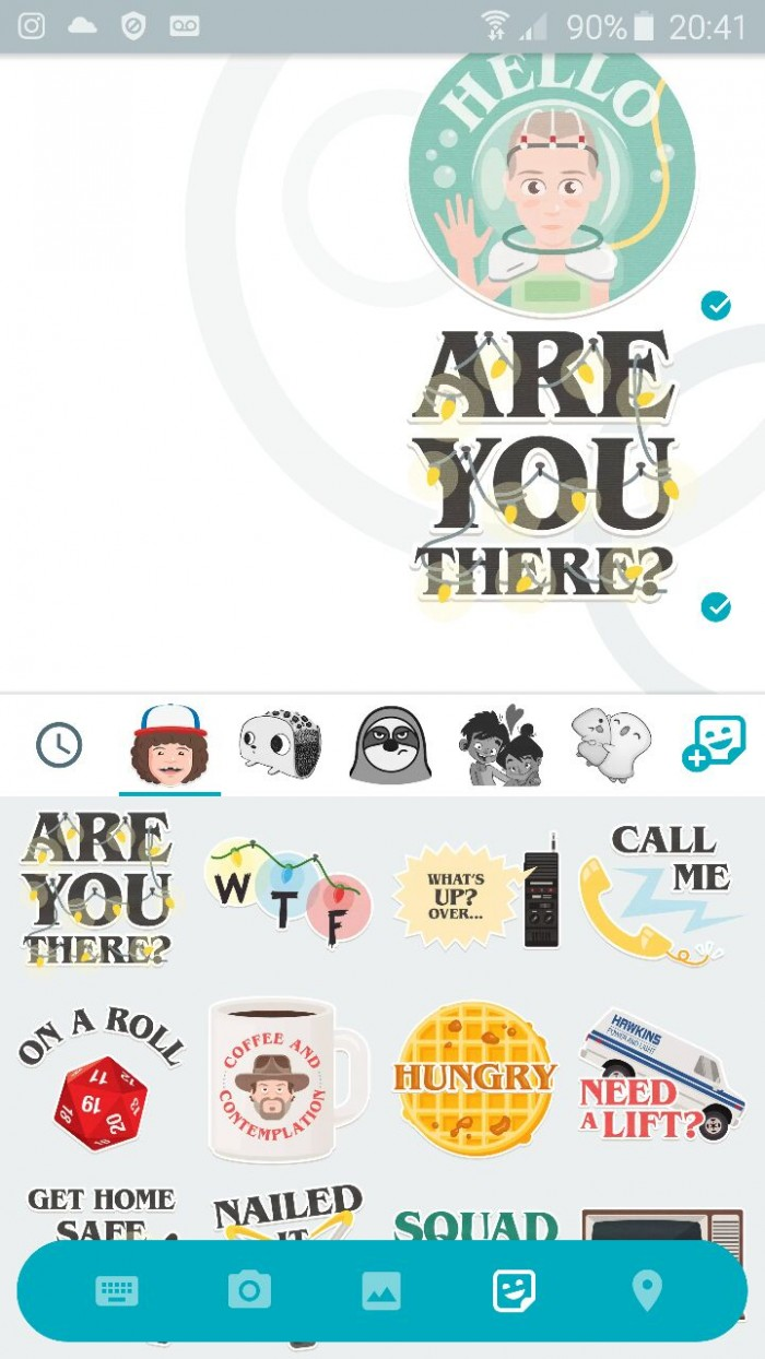 allo sticker stranger things