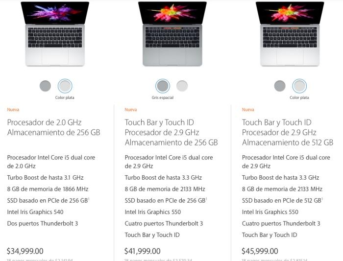 macBook Pro precios mx 13