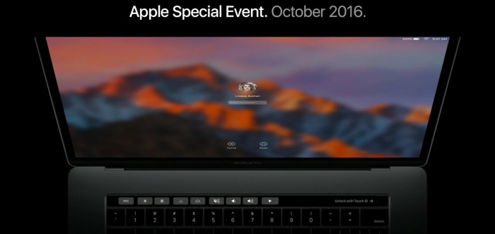 macbook pro con touch bar.controles
