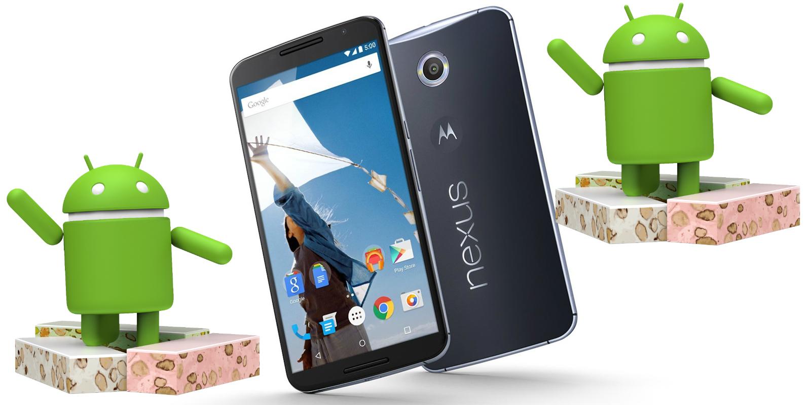 Nougat llegó al Nexus 6