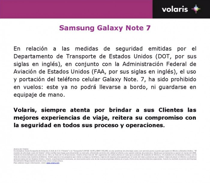 volaris galaxy note 7