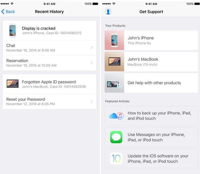 Apple app soporte
