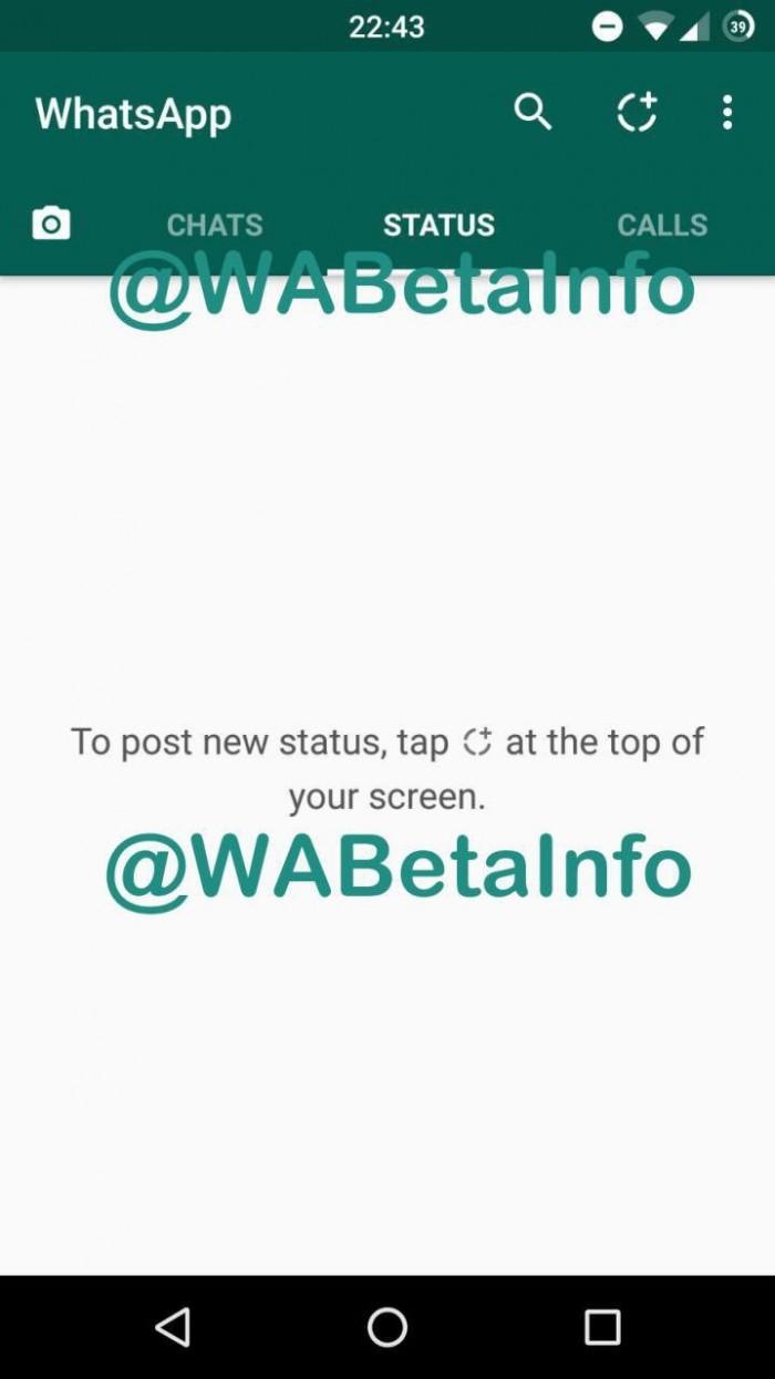 Función Status en WhatsApp 1