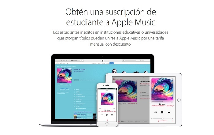 apple music estudiante plan