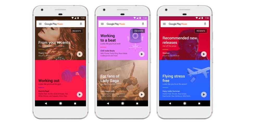 Google Play Music se vuelve más inteligente