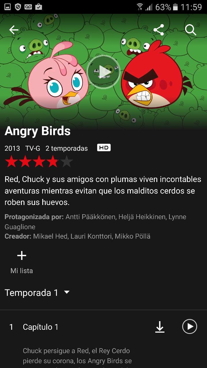 netflix descargar angry birds
