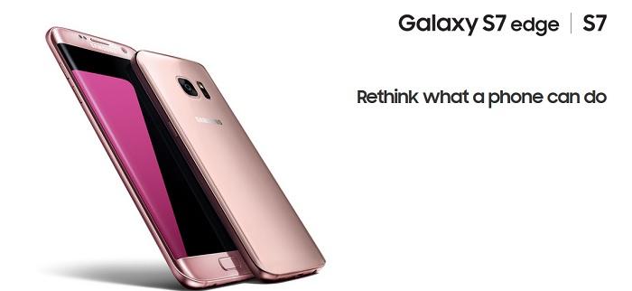 samsung galaxy s7 rosado