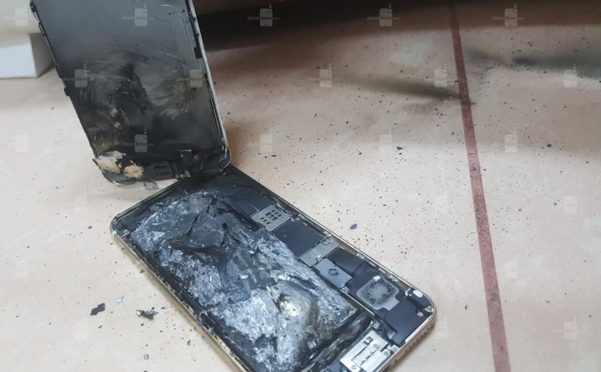 Así terminó el iPhone 6S tras la explosión
